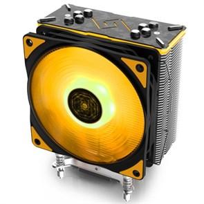 Кулер для S.2011-v3/2011/1366/115X/775/AMD Deepcool GAMMAXX GT TGA (TDP 150W, heatpipe, Al+Cu, PWM, RGB, TUF Gaming Alliance)
