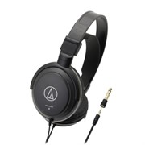 Audio-Technica ATH-AVC200  (оголовье, закрытые, чёрные, 20Гц-22кГц, 40Ом, 100 дБ/мВт, 3,5 + 6,3 мм, кабель 3 м)