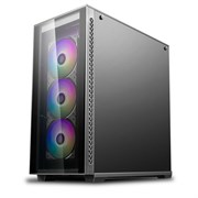ATX Deepcool MATREXX 70 ADD-RGB 3F (закаленное стекло x2, черный, 3x120ARGB[7], 2xUSB 3.0, 1xUSB 2.0, видео <380мм, CPU <170мм)