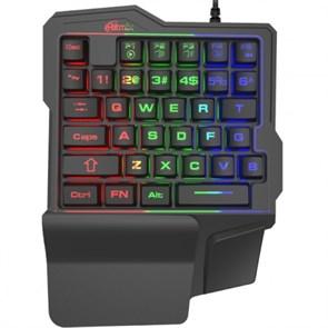 Клавиатура Ritmix RKB-209BL Gaming, 35 клавиш, многоцветная подсветка, USB