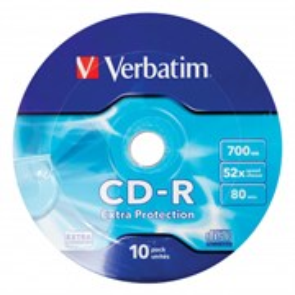 CD-R 700Mb 80min Verbatim 52x Extra Protection (упаковка 10шт. в пленке) (43725)
