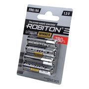 AA (FR06) ROBITON R-FR6-BL4, 1.5V, lithium (уп. 4шт.)