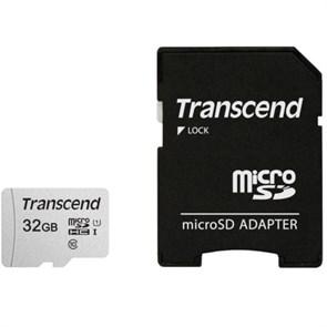 microSD Memory Card SDHC 32GB Class10 UHS-I U1 Transcend 95/20 MB/s (TS32GUSD300S-A)