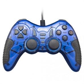 Геймпад RITMIX GP-007 Blue (USB, 19кн., виброотдача, кабель 1.5м)