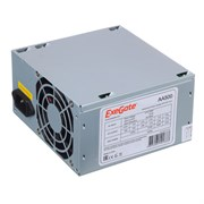 Блок питания ATX 500W ExeGate (ATX-AA500), 12V@17A+17A, 8cm fan (EX256711RUS)