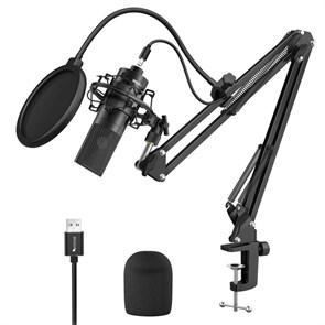 Микрофон FIFINE K780A (чёрный, на поворотной стойке, USB 5V, 20Hz-20kHz, -34dB±30% (1kHz), S/N 78dB, шнур USB A-B 2.5 м)