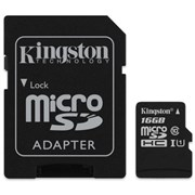 microSD Memory Card SDHC 16GB Class10 UHS-I U3 Kingston Canvas Select 80MB/s (SDCS/16GB)