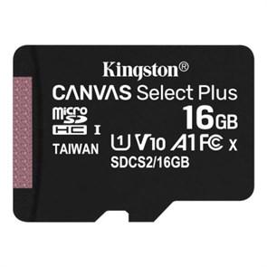 microSD Memory Card SDHC 16GB Class10 UHS-I U1 Kingston Canvas Select Plus 100MB/s (SDCS2/16GBSP)