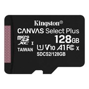 microSD Memory Card SDXC 128GB Class10 UHS-I U1 Kingston Canvas Select Plus 100MB/s (SDCS2/128GB)