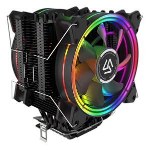 Кулер для S.2011/115X/AMD/AM4 Alseye H120D (2x120 PWM 15RGB leds, 800-2000 RPM, 518г)