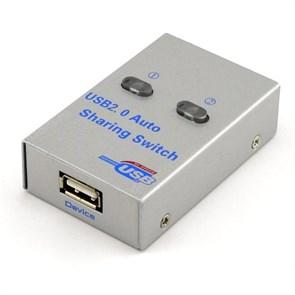 Переключатель USB 1->2 (электронное переключение), мет. корпус (2UA)