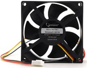 Вентилятор Gembird 80x80x25мм, питание 3-pin, гидродинамический, провод 30см (D8025HM-3)