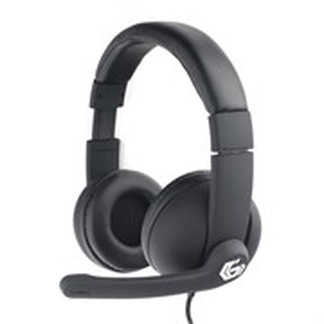 Gembird MHS-G220, черная, рег. громк., шнур 2.0м