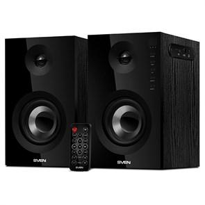 SVEN SPS-721 (2x25W, MDF, 40Гц-25кГц, Bluetooth, USB, SD, ПДУ, вход для наушников), черные