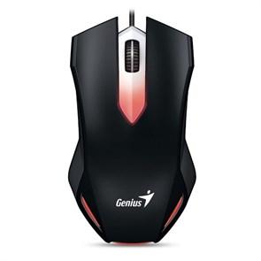 Мышь Genius X-G200 Optical Black, 1000dpi, 3кн., подсветка, USB
