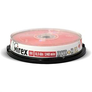 DVD+R 8.5GB (Double Layer) Mirex 8x (упаковка 10шт., на шпинделе), printable