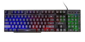 Клавиатура Ritmix RKB-200BL, 104 клавиш, многоцветная подсветка, USB
