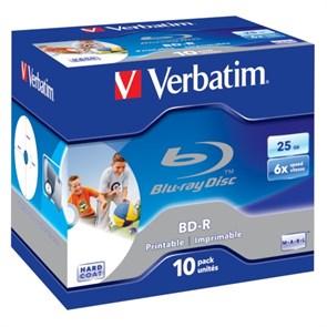 BD-R 25GB Verbatim 6x, jewel, scratch proof, printable (10шт.) (43713)