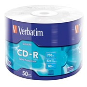 CD-R 700Mb 80min Verbatim 52x Extra Protection (упаковка 50шт. в пленке) (43787)