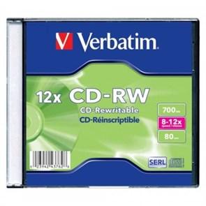 CD-RW 700Mb 80min Verbatim 12x, jewel