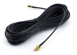 Антенный кабель RG-174 8.5м, RP-SMA-m to RP-SMA-f