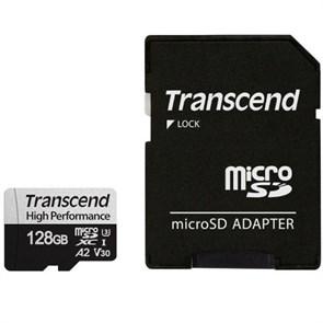 microSD Memory Card SDXC 128GB Class10 UHS-I U3 V30 A2 Transcend 100/85 MB/s (TS128GUSD330S)