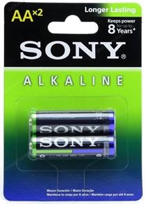 AA (LR06) Sony, 1.5V, alkaline, упаковка 2шт.