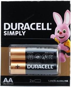 AA (LR06) Duracell MN1500, 1.5V, упаковка 2шт.