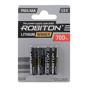 AAA (FR03) ROBITON R-FR03-BL4, 1.5V, lithium (уп. 4шт.)