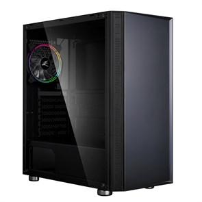 ATX Zalman R2 (закаленное стекло, черный, 1RGBx120[6], 1xUSB 3.0, 2xUSB 2.0, видео <350мм, CPU <162мм)