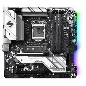 Socket 1200 ASRock B460M STEEL LEGEND (iB460, 4xDDR4, SATA 6Gb/s, 2xM.2, HDMI/DP, USB 3.1, GLAN, 2xARGB, 2xRGB, mATX)