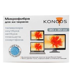 Салфетка из микрофибры для экранов Konoos KT-1 (20 х 30 см)