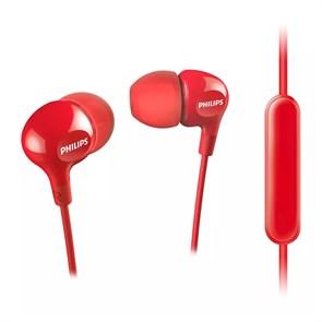 Philips SHE3555RD/00 красные (вкладыши, 10Гц-22кГц, 16Ом, 103дБ, L3.5мм, шнур 1.2м)