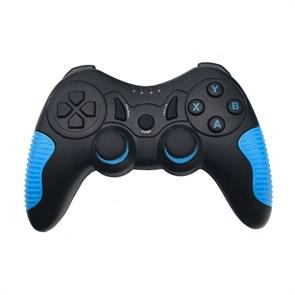 Геймпад RITMIX GP-033BTH Black-Blue (Bluetooth 3.0, виброотдача, 17кн., 380mAh, крепление для телефона, Win/iOS 13+/Android 3+)