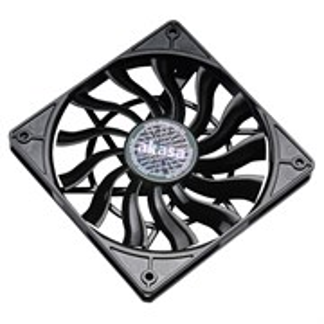 Вентилятор Akasa Slimfan 120x120x15мм, 600-1600rpm, 29dBa, 92.7m3/h, 1.36 mmH2O, PWM (AK-FN078)