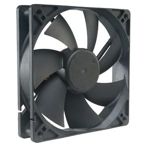 Вентилятор Akasa Black 120x120x25мм, 1200rpm, 17.5dBa, 65m3/h, 1.4 mmH2O, 3-pin, Sleeve (AK-174BK-S)