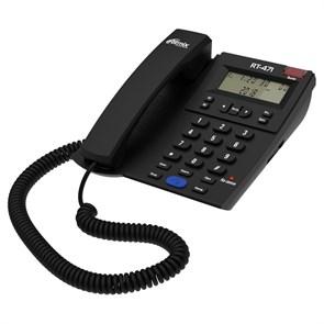 Телефон Ritmix RT-471 черный (дисплей, спикерфон)