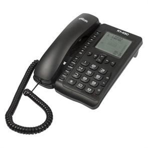 Телефон Ritmix RT-490 черный (дисплей, спикерфон)