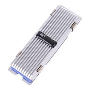 Радиатор для M.2 2280 SSD thermorysis (Al, серебристый, крепление клипсы, 76.3x23.2x17.4mm)