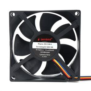 Вентилятор Gembird 80x80x25мм, PWM, гидродинамический, 30см (D8025HM-4)