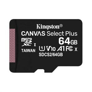 microSD Memory Card SDXC 64GB Class10 UHS-I U1 Kingston Canvas Select Plus 100MB/s (SDCS2/64GBSP)