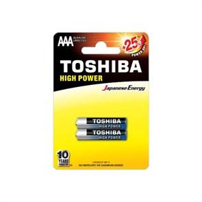 AAA (LR03) Toshiba, 1.5V, alkaline, упаковка 2шт.