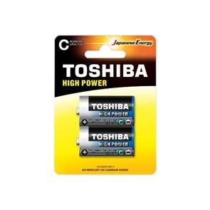 D (LR20) Toshiba, 1.5V, alkaline, упаковка 2шт.