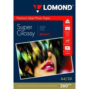"""Бумага Lomond A4 """"Супер Глянцевая"""" 260 г/м2, 2400dpi, 20л. (1103101)"""