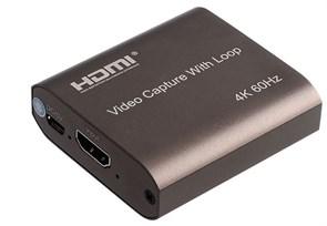 Плата видеозахвата HDMI -> USB 3.0 (4K@60Hz источник, 1080p@60Hz захват, HDMI выход, доп. питание micro-USB)