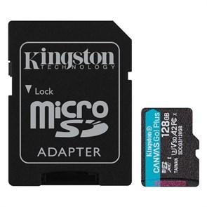 microSD Memory Card SDXC 128GB Class10 UHS-I U3 Kingston Canvas Go Plus 170R A2 V30 170MB/s (SDCG3/128GB)