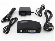 Переходник-конвертер Video (S-Video/RCA) -> VGA (F)