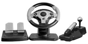 Руль Диалог GW-300 Race Winner I USB для ПК (12 кнопок в т.ч. джойстик, педали, КПП, ручник, угол 180 град.)