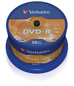 DVD-R 4.7GB Verbatim 16x (упаковка 50шт. на шпинделе) (43548)