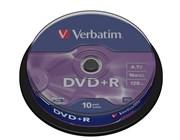 DVD+R 4.7GB Verbatim 16x (упаковка 10шт. на шпинделе) (43498)